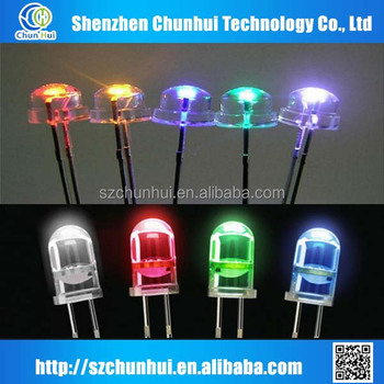 5mm straw hat white 0.5w led diode