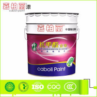 Alkali resistant primer coating for design wall inter brush paint