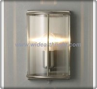 Stain Nickel Framed Wall Lantern/Clear Glass Wall Lamp For Hotel W30038