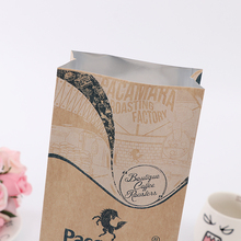 Factory Price craft coffee bag with valve zipper window