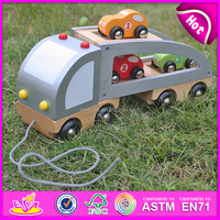 2016 new design children wooden cartoon model train,high quality wooden cartoon train,hot sale wooden model train W04A082