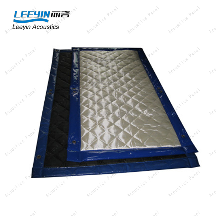 Fireproof outdoor sound barrier for construction site noise control