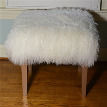Dyed Decorative Tibetan Lamb Fur Cushion Cover