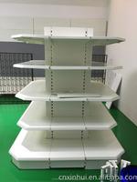 Display stand style light box metal supermaket shelf gondola from china