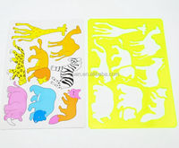 Cute animal shaped stencil fresh color kids template for drawing stencil set