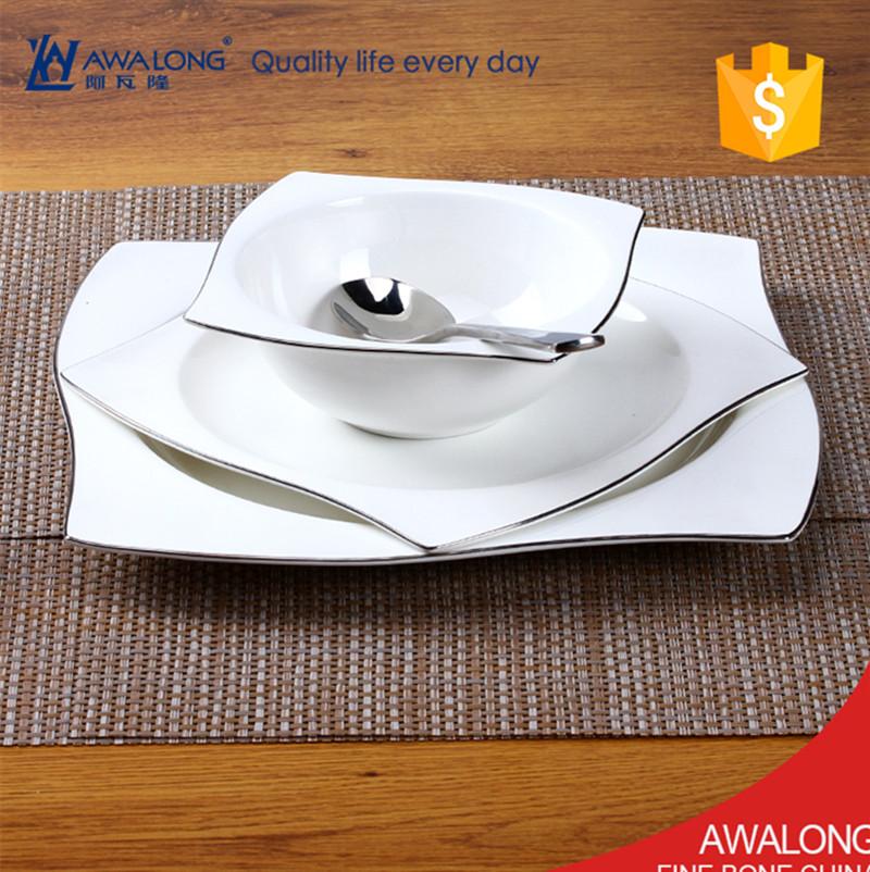 Porcelain ceramic dish u003cstrongu003eplateu003c/strongu003e white dinner u003cstrongu003e & Wholesale charger plates square - Online Buy Best charger plates ...
