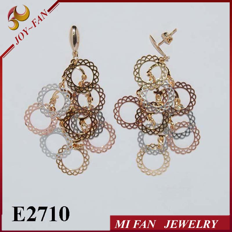 Copper Jewelry 3 colors ladies ear rings