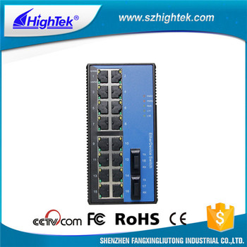 HK-86216 DIN-Rail standalone industrial fiber optic ethernet switch
