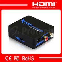 Digital to analog converter with optical to 5.1 toslink to R/L audio converter