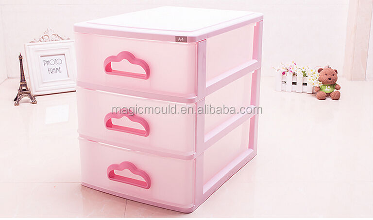 2014 super quality Custom Injection Plastic Drawer Cabinet Mould