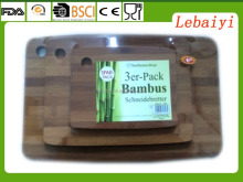 3er-pack bambus schneidebretter 3pc bamboo cutting board set