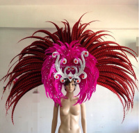 Bazil Carnival feather headpiece