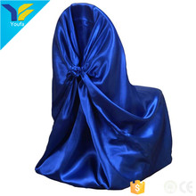 China factory royal universal luxury satin chair cover for wedding banquet