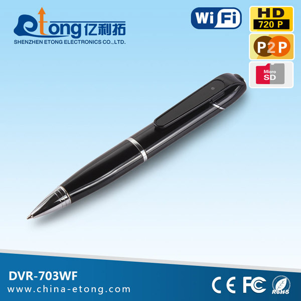 Hidden wireless wifi 720p pen camera