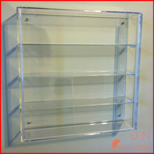 4 Rows Wall Mounted Acrylic Figures Display Case
