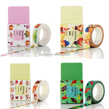 2016 New arrival washy masking tape decorative tapes with beautifully package