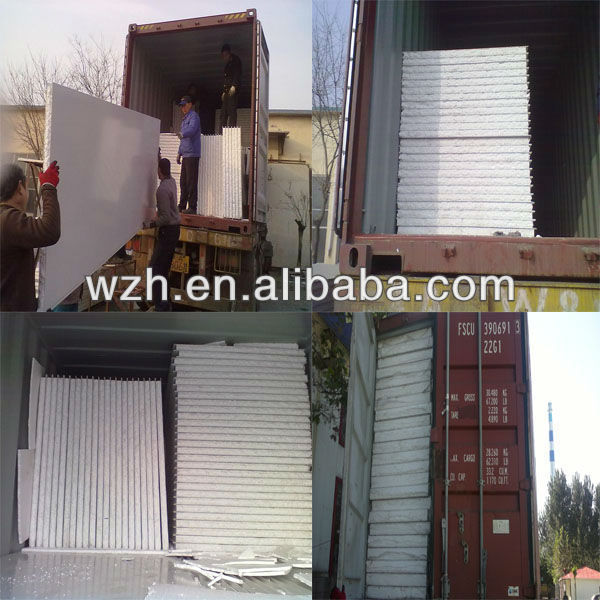 Yellow Rockwool Sandwich Panel For Roof And Wall From China ...