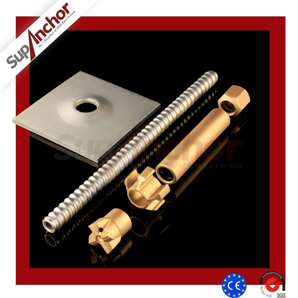 SupAnchor R25N self drilling steel rock hollow bar