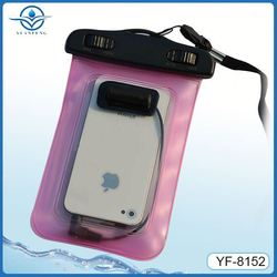 Eco-friendly material waterproof phone bag for iphone 5s with earphone jack