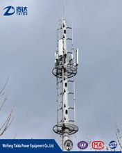 Aibaba Monopole Telescopic Steel Tube Tower Assembly for Mobile Tower
