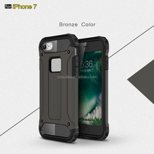 Wholesale Low MOQ=50pcs PC TPU mobile phone cover armor cell phone case for iphone 6 6s 7 plus