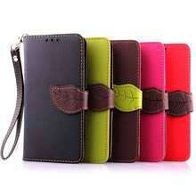 Leaf Clasp PU Leather Case for LG G3 D855 with Stand Function 2 Card Holder Wallet Case Cover for LG G3 Case
