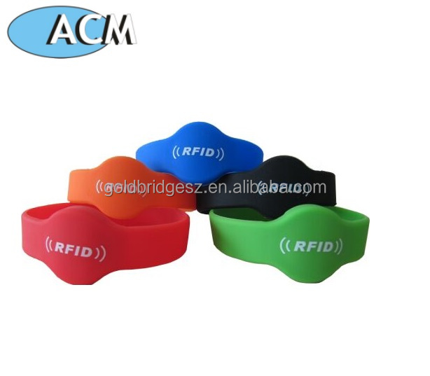 Hot Selling 125Khz Customize Colorful Rfid Silicone Wristband Bracelet For Access Control