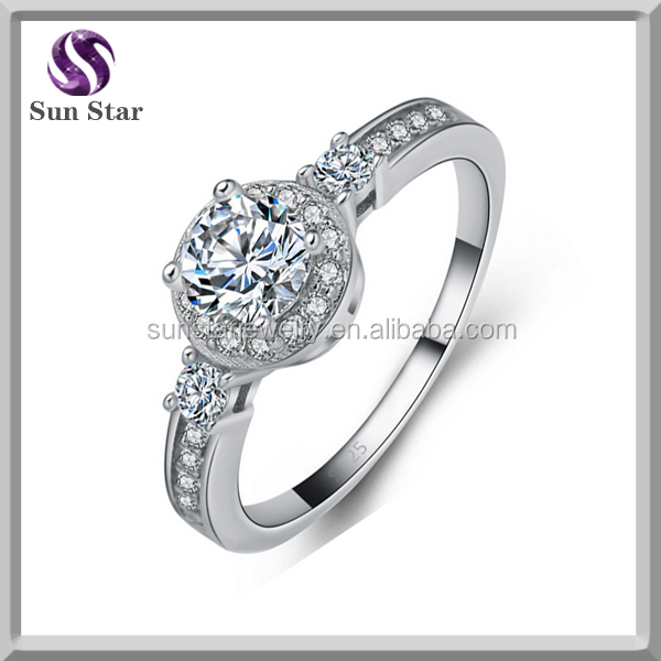 More than 9 year jewelry factory 925 sterling silver diamond engagment ring