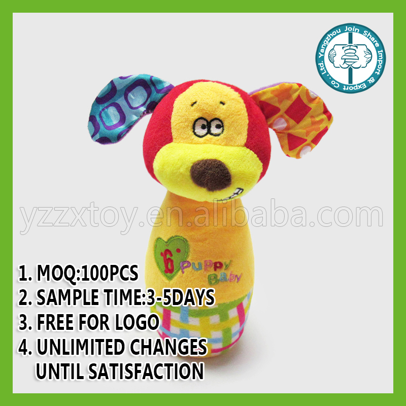 Roll Up Roll Up puppy Stick Rattle Toy for baby