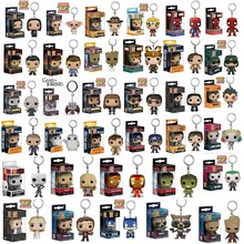 Many kinds of FUNKO POP spider-man captain America galaxy convoy ents avengers alliance key chain keyring wholesale