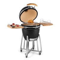 Outdoor Lava Stone Cooking Ceramic Kamado Barbecue Grill