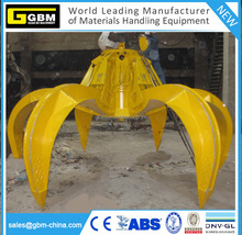 GBM housing waste electric hydraulic orange peel grab power plant electro hydraulic grab bucket