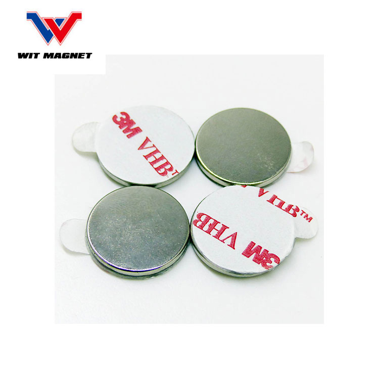 neodymium disc magnet with 467 type 3m adhesive magnetic dot