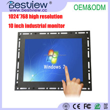 1024*768 high resolution 10 inch led monitor hdmi monitor with open frame