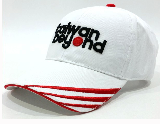 Matching color red white baseball cap hat Embroidery red striped baseball cap with sandwich Metal clasp golf cap sun hat