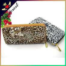 Leopard High quality PU leather wallet ladies long hand wallet purses