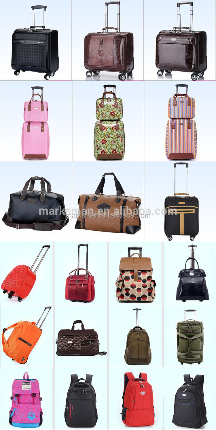 2015 new fashion colorful PC luggage bag with rolling wheels