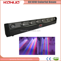 Professional led stage lighting for sale 8x10W RGBW dmx moving head led bar beam light