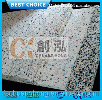 Good quality PU Rebond Foam/recycle foam mix color