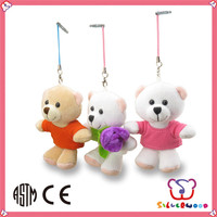 GSV ICTI Factory hot sale plush and stuffed custom keychain toy animal