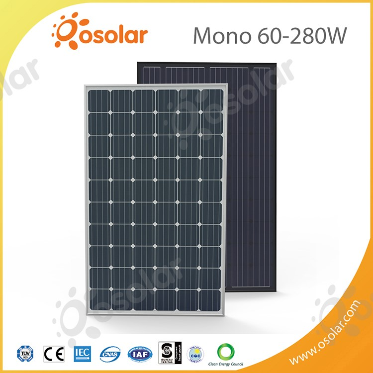 solar power panel 60 cells 240W 250W 260W 270W 280W mono solar energy panel for home