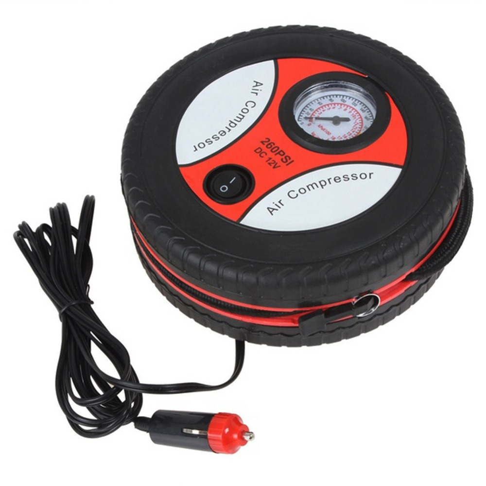High Quality 260PSI Inflatable Pump 90W Mini Tire Inflator Air Compressor Car Auto Pump Wholesale