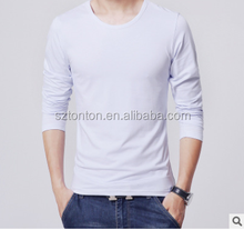 mens blank dry fit long sleeve custom t shirt printing wholesale compression shirts