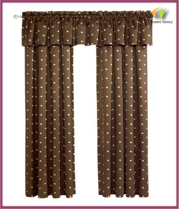 Big dots blackout thermal energy saving faux suede window curtain