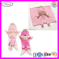 B037 Baby Berry Sweet Doll Nylon Stuffed Soft Baby Wrapper Blonde Nylon Doll