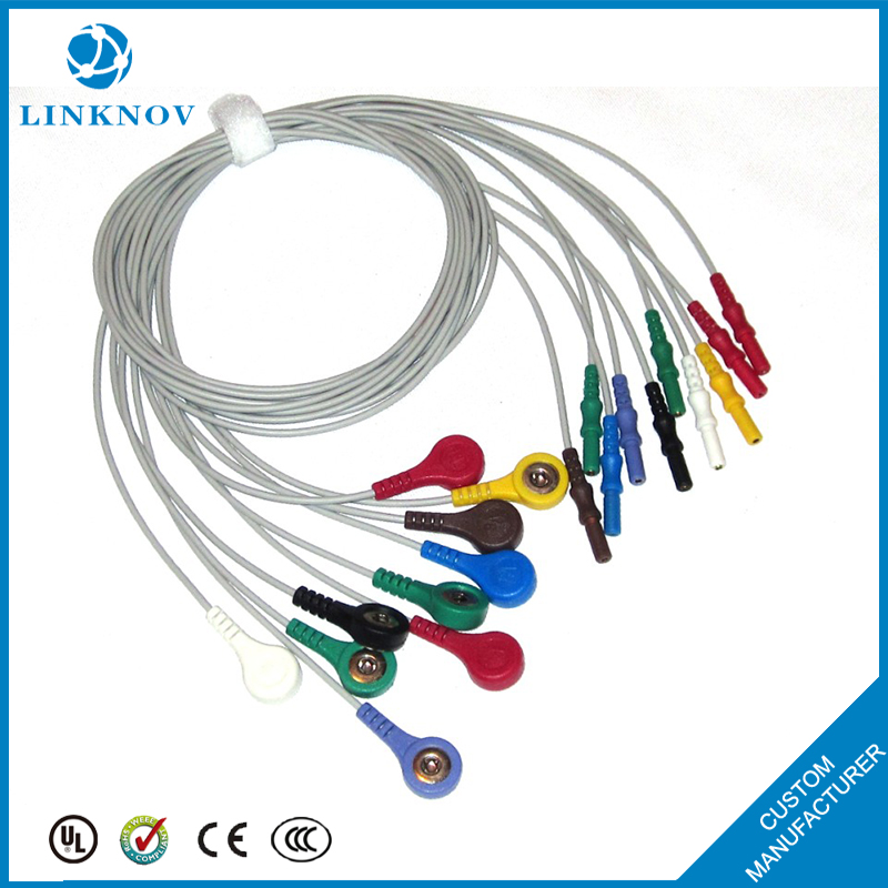 Tens Accessories For 5mm Snap Tens 10 Din Ecg Cable