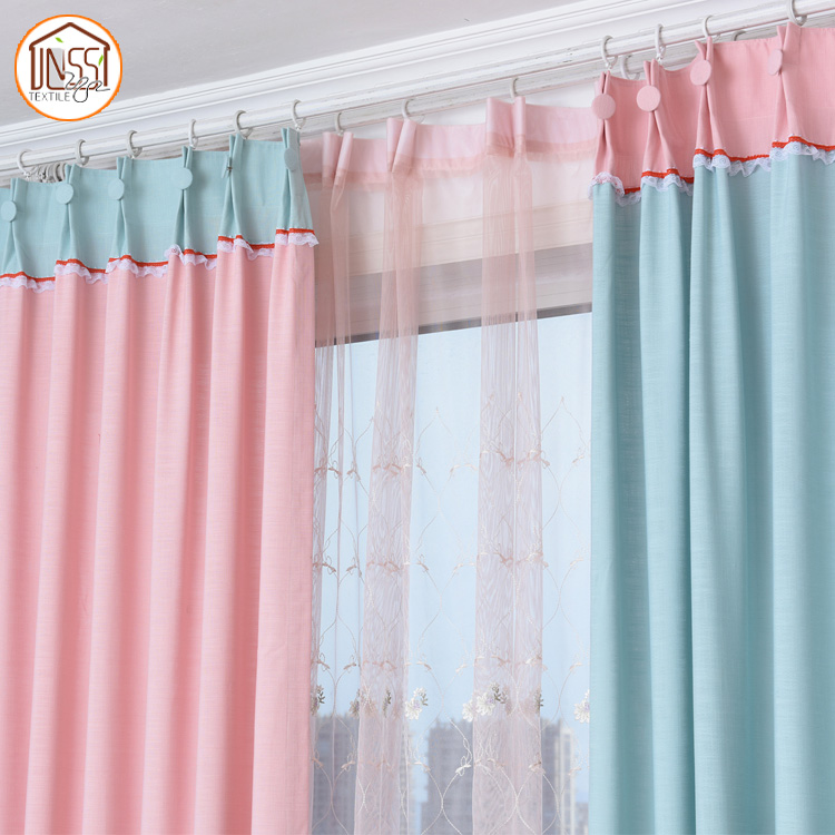 French Stylish Cotton Fabric Lace Curtains for Door Windows