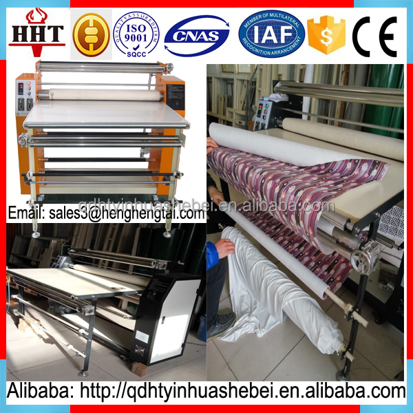 Sublimation heat transfer roller printing machine for textiles/polyester fabrics