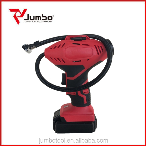 CAP110 New product 18V cordless battery type electric air pump mini air pump for car tire