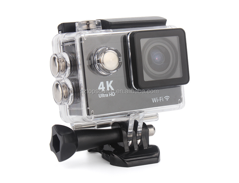 Ultra thin 4k Wifi Waterproof Sports Action Camera Dual-screen 4k Video Camera for Ios and Android